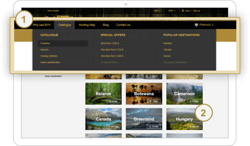 Catalog of trips